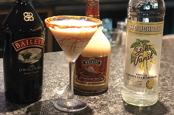Pumpkin Spice Martini - Friendly Red's Tavern