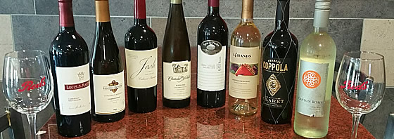 Friendly Red's Tavern Wine Selection
