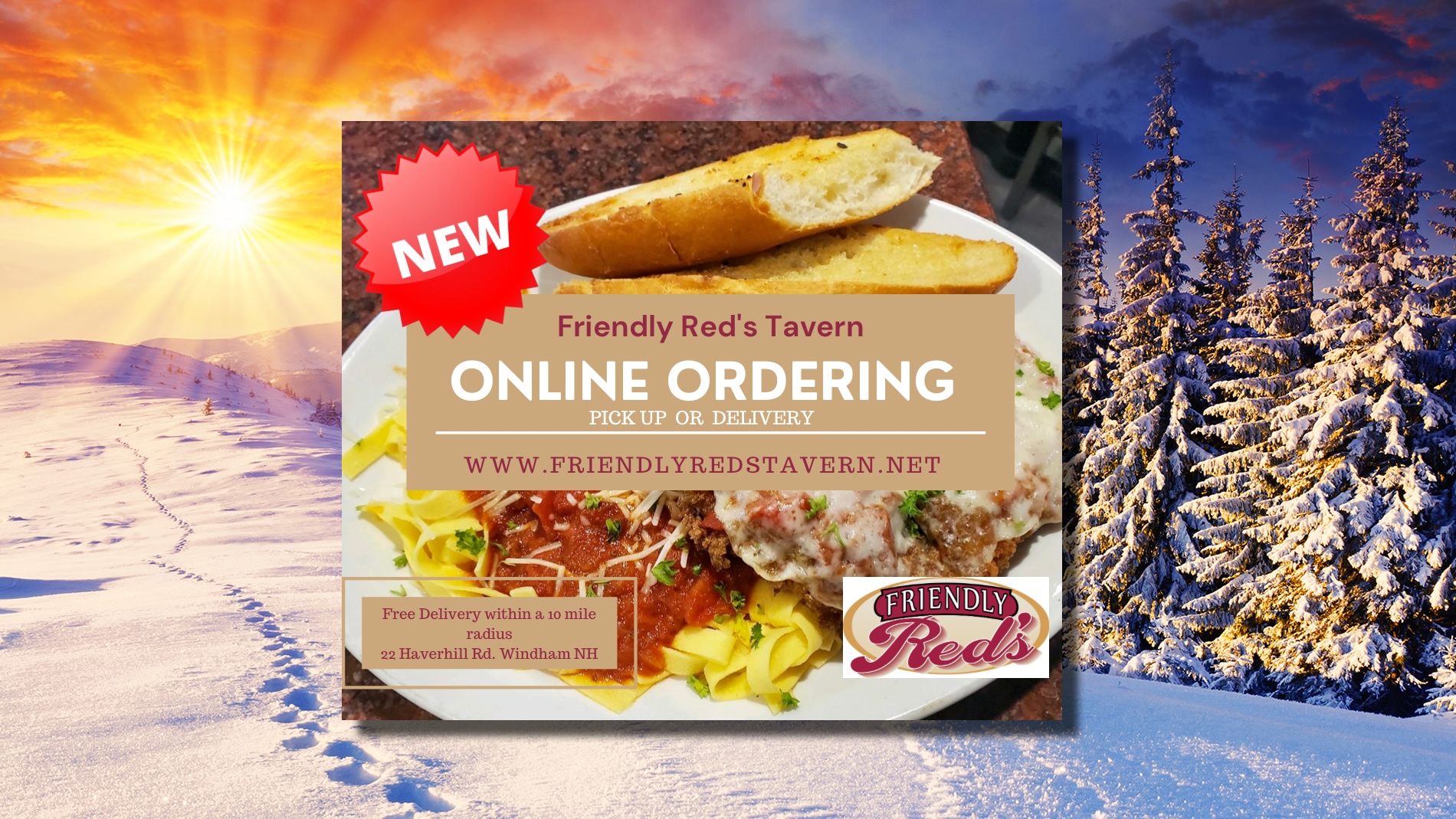Friendly Red's Now Offers Online Ordering!